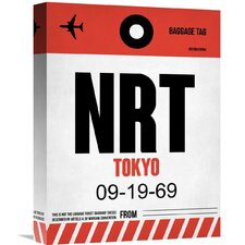'NRT Tokyo Luggage Tag' Graphic Art on Wrapped Canvas
