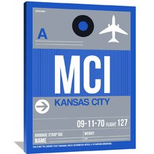 'MCI Kansas City Luggage Tag 2' Graphic Art on Wrapped Canvas