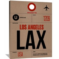 'LAX Los Angeles Luggage Tag 1' Graphic Art on Wrapped Canvas