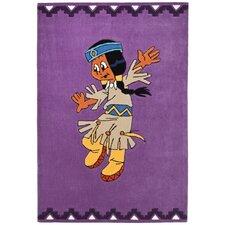 Handgetufteter Kinderteppich Petala in Lila