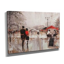"""""""River Walk"""" by Ruane Manning Painting Print on Wrapped Canvas"""