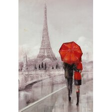 """""""Modern Couple in NY"""" by Ruane Manning Painting Print on Wrapped Canvas"""