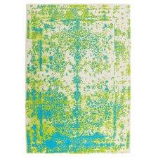 Teppich Maya in Grün / Blau