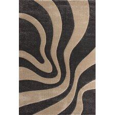 Handgearbeiteter Teppich France Provence in Platin/ Beige