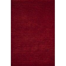 Handgefertigter Teppich India Mumbai in Rot