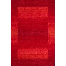 Handgefertigter Teppich New Zealand Wellington in Rot