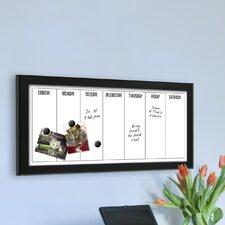 Wyeth Framed Magnetic Weekly Calendar Dry Erase Board