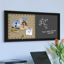 Wyeth Framed Combination Burlap Pinboard and Chalkboard
