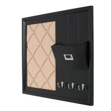 Dagny Decorative Wood Home Organizer Fabric Pinboard