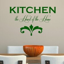 Kitchen the Heart of the Home' Wall Decal