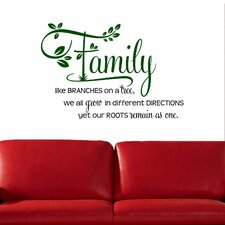 Family Like Branches on a Tree' Two-tone Wall Decal