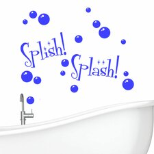 Splish Splash with Bubbles Wall Decal