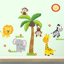 Jungle Theme Fabric Wall Decal