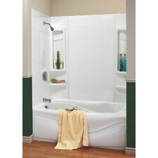 "5 Piece 3.13"" x 35.88"" x 58.38"" Tub Wall Set"