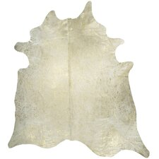 Devore Metallic White Area Rug
