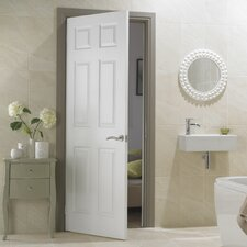 Wood 6 Panel White Internal Door