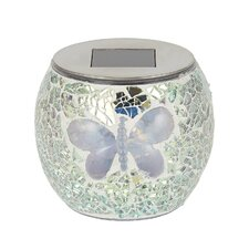 Solar Mosaic Butterfly 1 Light Tabletop Lantern