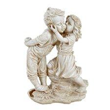 Statue Girl Kissing Boy