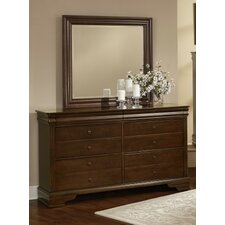 French Market 6 Drawer Dresser with Mirror