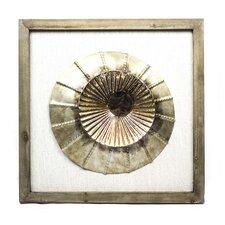 Metallic Circle Framed Art