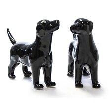2 Piece Ceramic Dog Décor Set