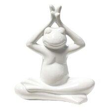 Ceramic Hands Up Yoga Frog Décor