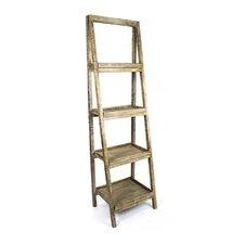 "70.75"" Wood Ladder Bookshelf Bookcase"