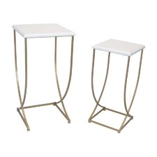 2 Piece Metal End Table Set