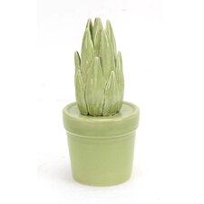 """Decorative 8.5"""" Ceramic Cactus"""