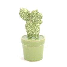 """Decorative 9.5"""" Ceramic Cactus"""