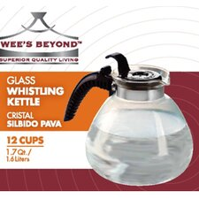 Stove Top Glass Whistling Kettle 12 Cups