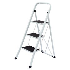 3-Step Steel Heavy Duty Step Stool with 250 lb. Load Capacity