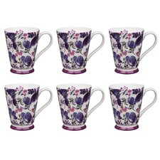 Buckingham Ebony Bone China Mug (Set of 6)