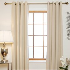 Blackout Antique Brass Grommet Top Curtain Panel (Set of 2)