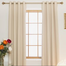 Room Darkening Nickel Grommet Top Curtain Panel (Set of 2)
