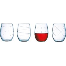 Soho 21 Oz. Stemless Wine Glass (Set of 4)