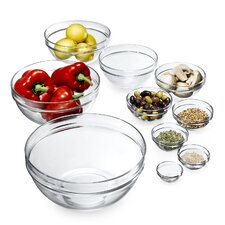 10 Piece Stackable Bowl Glass