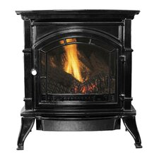 Vent Free Enameled Porcelain Cast Iron 1,500 Square Foot Natural Gas Stove