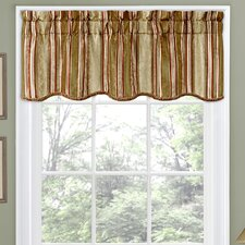 "Stripe Ensemble Scalloped 52"" Curtain Valance"