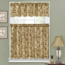 "Navarra Floral 52"" Valance and Tier Set"