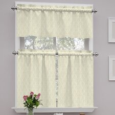 "Strands 56"" Valance and Tier Set"