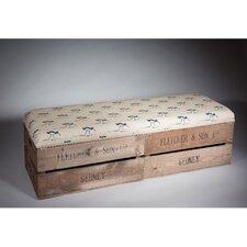 Gepolsterte Schlafzimmerbank Apple Box mit Stauraum