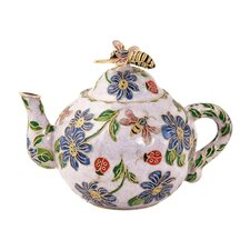 Imperial Enameling Decorative Cloisonne Large Bumble Bee Teapot