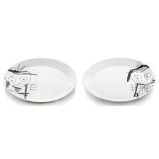 Poul Pava Great Guys 2 Piece Side Plate Set