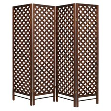 178cm x 175cm Screen with Hole 4 Panel Room Divider