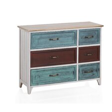 Wooden 6 Drawer Chest