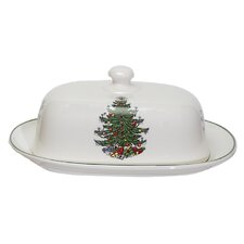 Original Christmas Tree Traditional Covered Butter Dish