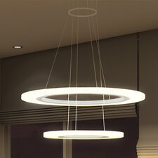 Tania Duo LED Halo Chandelier