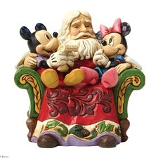 Christmas Wishes Santa with Mickey and Minnie Mouse Figurine