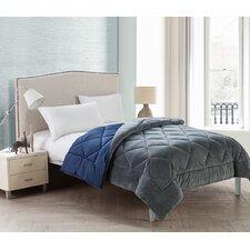 Kyle Checkerboard Plush Reverse Full Comforter